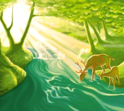 As deer thirst for water